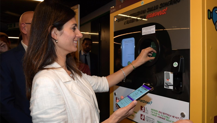 roma passageiros trocar garrafas plástico bilhete metrô