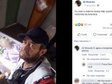 homem que postou foto velando mãe sozinho desabafa