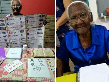 Idosa começa a estudar aos 104 anos para realizar sonho de ler a Bíblia