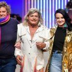 Caminhoneira trans Afrodite tema de coleção desfila passarela SP