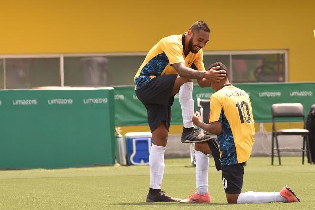 jogadores ouro futebol parapan lima 2019