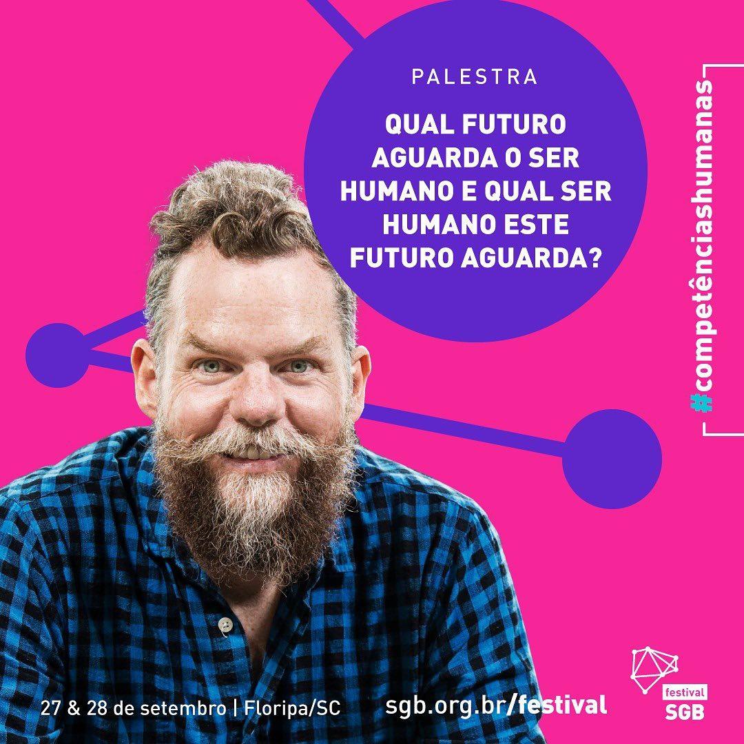Foto do palestrante Marcos Piangers para o Festival SGB