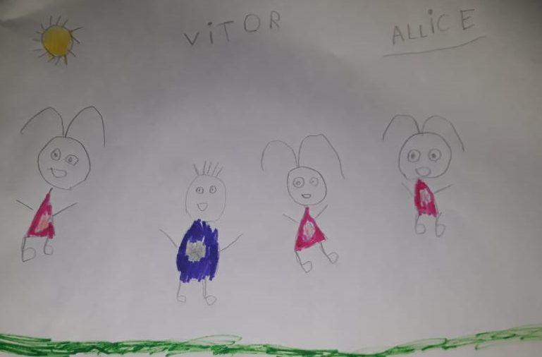 desenho família