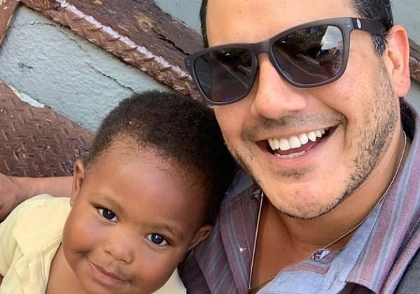 selfie de pai com filho