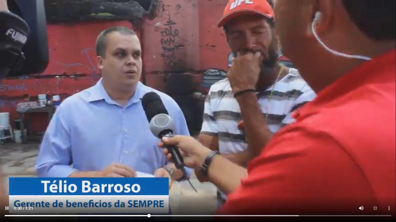 jornal entrevista gerente da SEMPRE e morador do barco