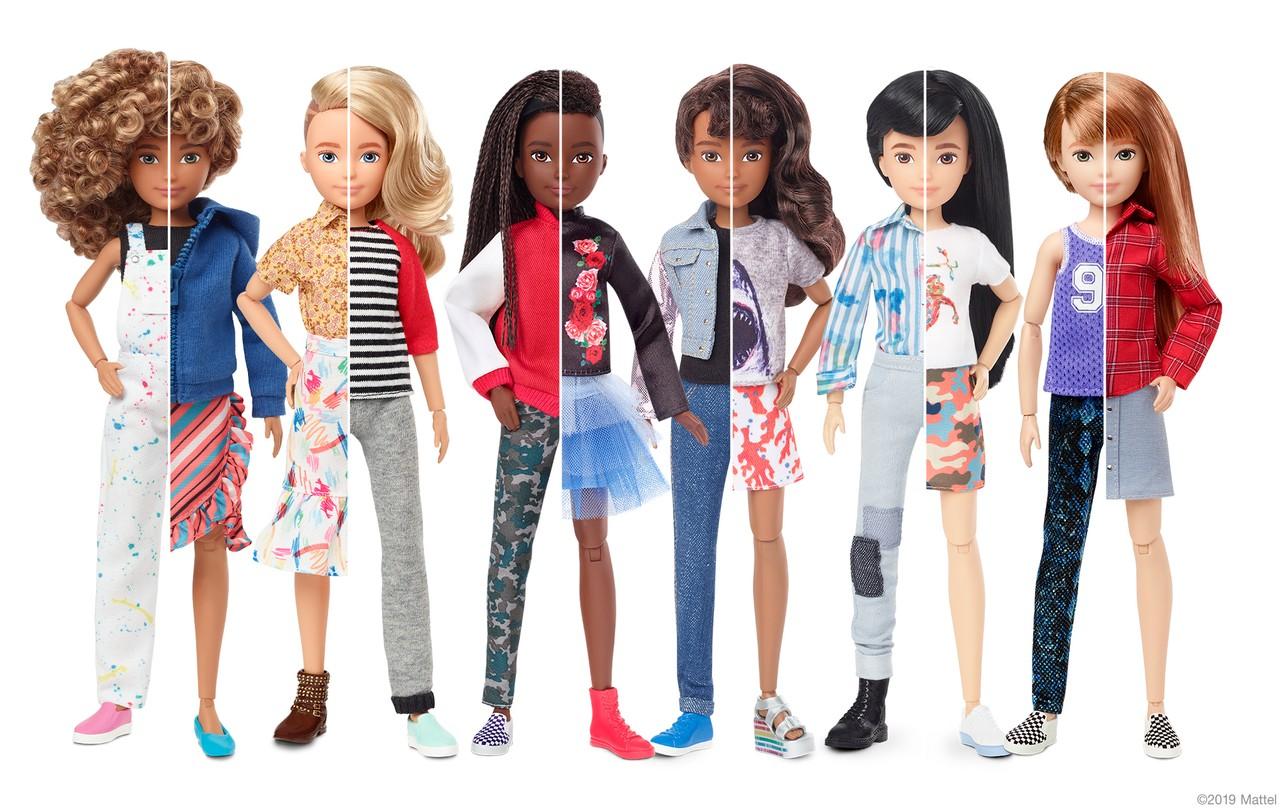 Fabricante Mattel Barbie linha bonecos sem gênero definido