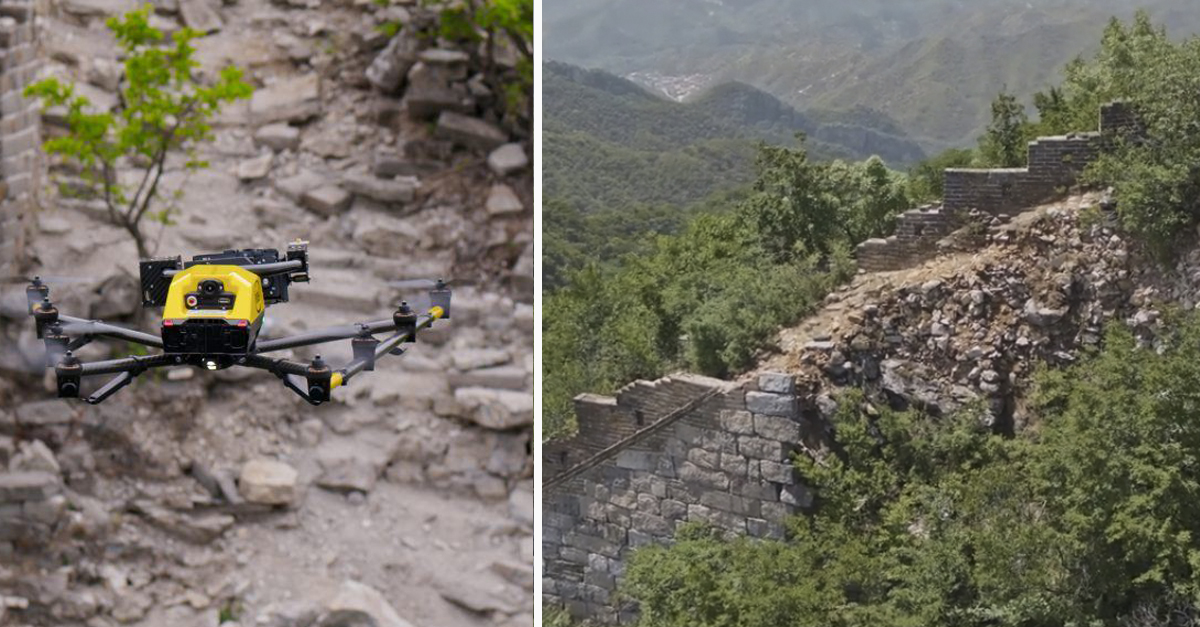 drone intel grande muralha da china