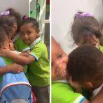 Menino que sobreviveu ao furacão Dorian é recebido com abraço coletivo de colegas 5