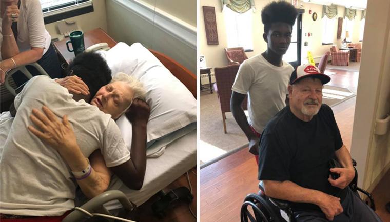 Jovem de 15 anos visita vizinhos idosos todos os dias para ver se eles estão bem 3