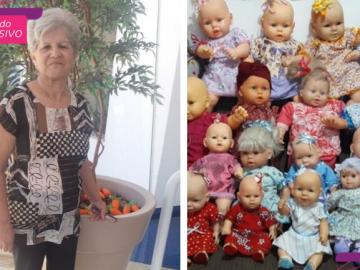 Idosa restaura bonecas que iam para o lixo e doa para crianças carentes
