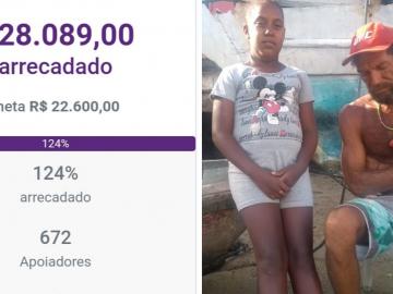 Em menos de 24h, bate a meta da vaquinha para família que vive em barco na Bahia