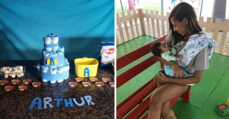 Após ninguém aparecer no chá de bebê, jovem mãe recebe apoio de internautas