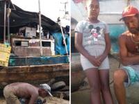 Família vive em barco abandonado na Bahia e comove internautas