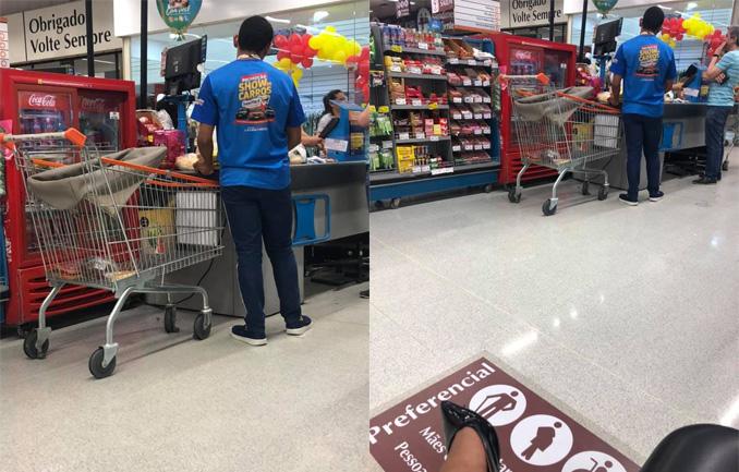 Funcionário de supermercado faz compras para cliente que estava com filho no colo 1