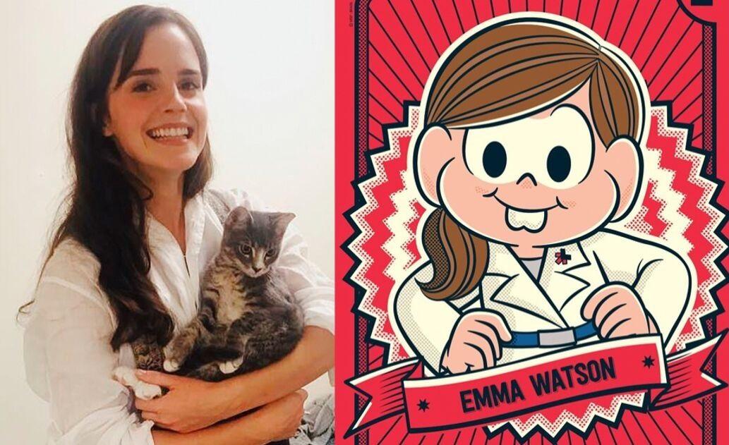 Emma Watson personagem Turma da Mônica