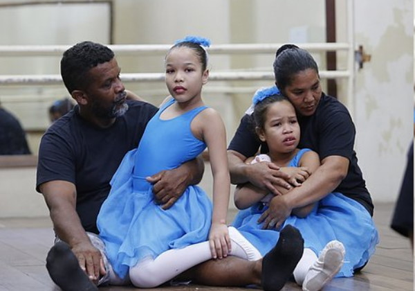 pais filhas aulas balé