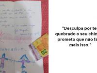 Após quebrar chinelo de amiga sem querer, menino manda carta fofinha pedindo desculpas 3