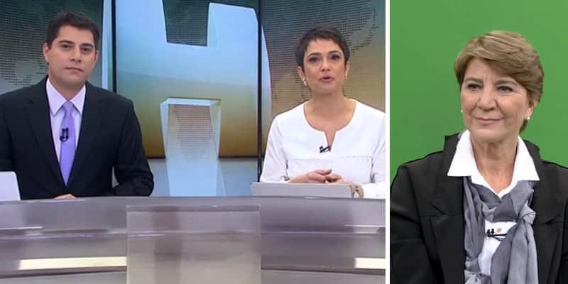 Sandra Annenberg chora na bancada do Jornal Hoje ao noticiar a morte de amiga jornalista