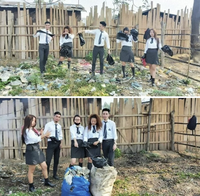 Amigos Desafio do Lixo limpam córrego Goiânia