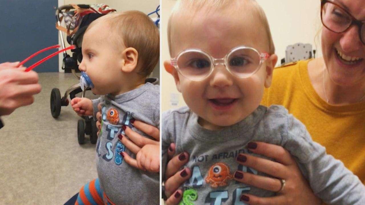 bebê se recupera de catarata e enxerga pais pela primeira vez