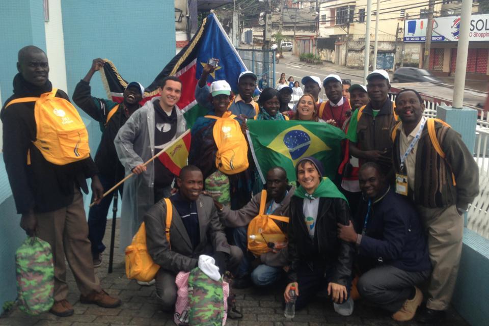 africanos e brasileiros na Jornada Mundial que aconteceu em 2016 no Rio de Janeiro