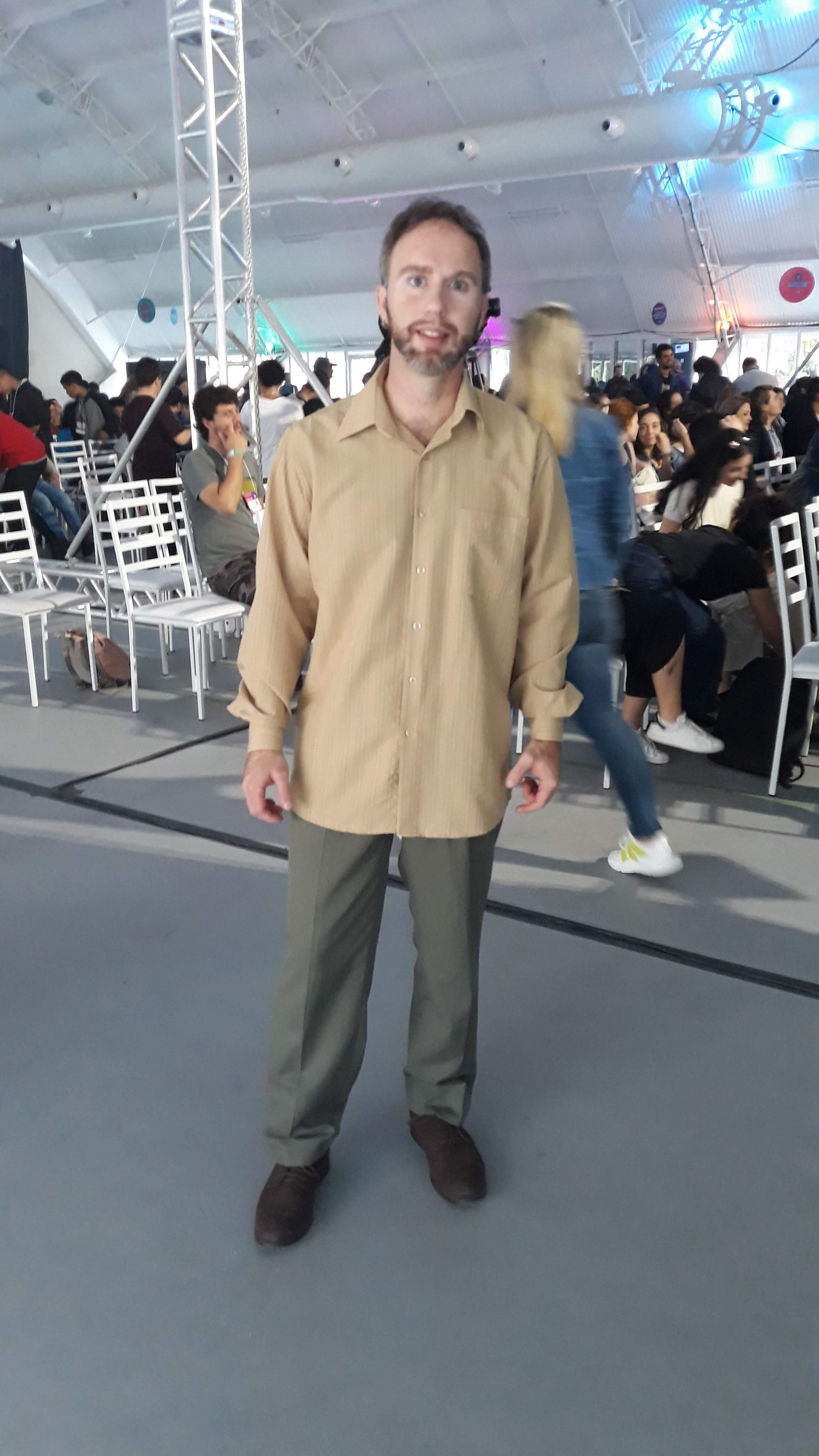 contrabaixista Mateus Costa no Festival SGB