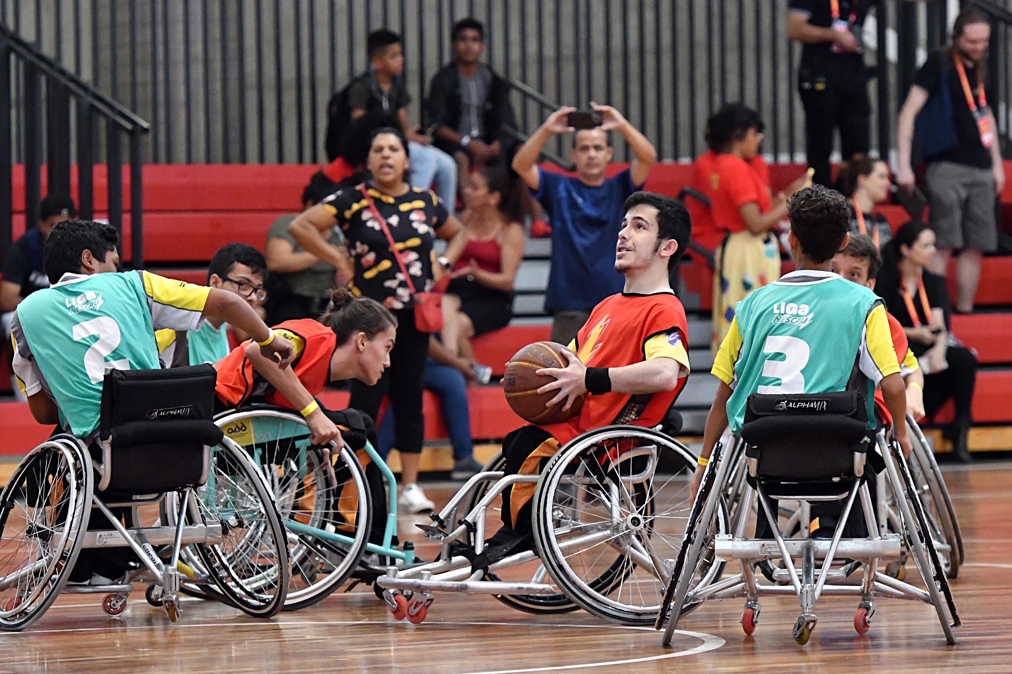 Liga Nescau reúne 4 mil alunos com e sem deficiência em competição estudantil 2