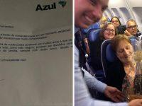 Azul faz homenagem a casal que completou 50 anos de união em pleno voo 7