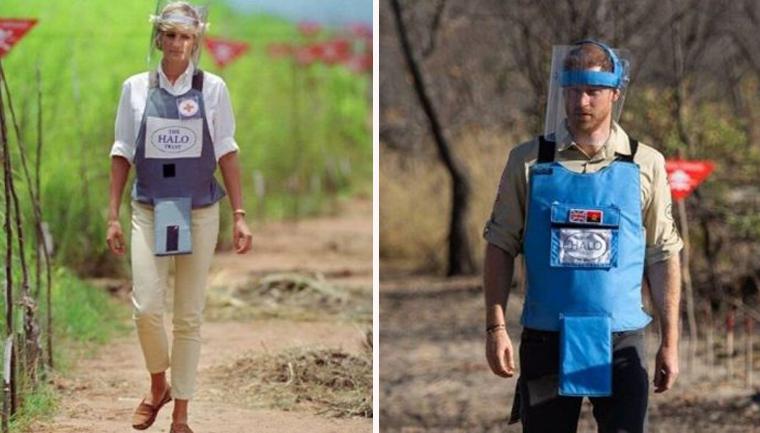 Príncipe Harry refaz visita de Princesa Diana a campo minado na África 1