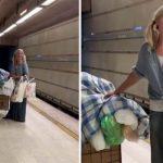 Policial grava vídeo de tirar o fôlego de mulher sem-teto cantando ópera no metrô 4