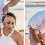 Em 'ritual' na praia, mulher com câncer de mama raspa a cabeça e emociona internautas 4