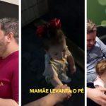Menina de 2 anos guia os pais deficientes visuais no dia a dia 4