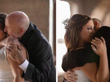 Filhas 'inventam' casamento para dançar valsa com pai com câncer terminal 1