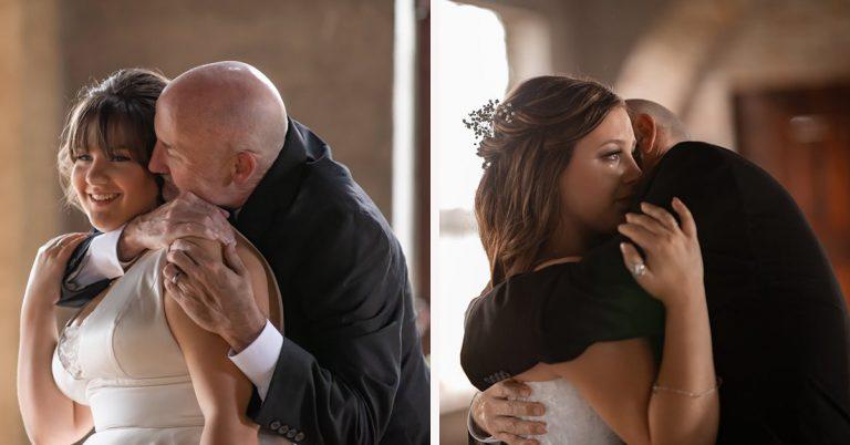 Filhas 'inventam' casamento para dançar valsa com pai com câncer terminal 4