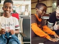 Prodígio do crochê, menino de 11 anos levanta R$ 82 mil para orfanato na Etiópia 14