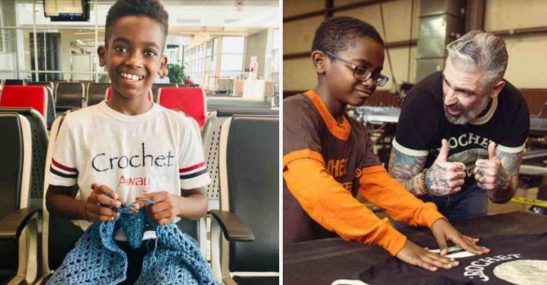 Prodígio do crochê, menino arrecada R$ 82 mil para construir biblioteca na Etiópia, sua terra natal 1