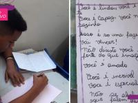 Professora faz alunos do regular e do supletivo trocarem cartas e palavras de incentivo