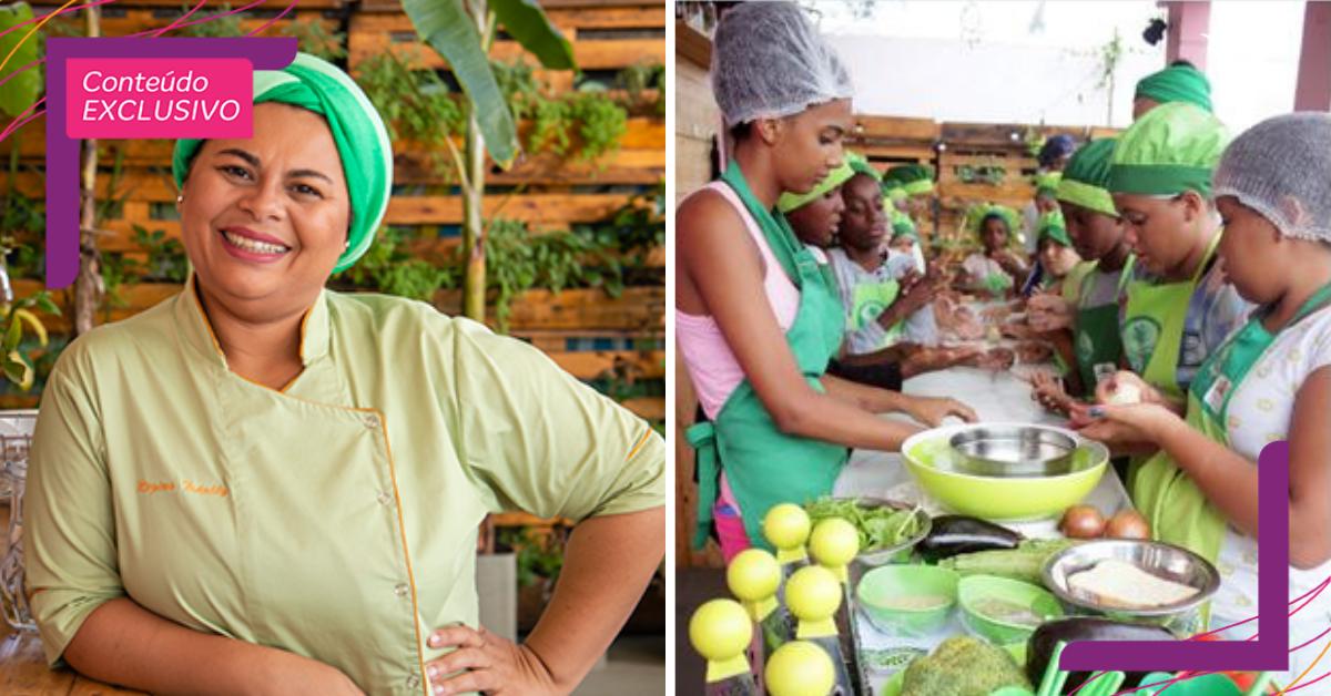 Chef nordestina ensina moradores da periferia a criarem pratos criativos com alimentos reaproveitados (RJ)