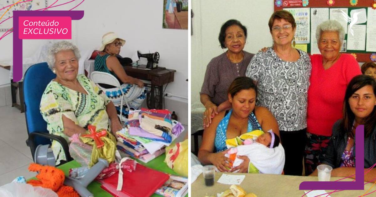 Aos 94 anos, Dona Nair e grupo de idosas costuram enxovais para grávidas carentes