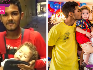 Após vídeo com bebê viralizar, filho de bikeboy ganha festa surpresa de um ano