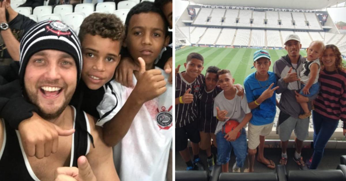 Após realizar sonho de meninos, torcedor ajuda família da favela Vila União (SP)