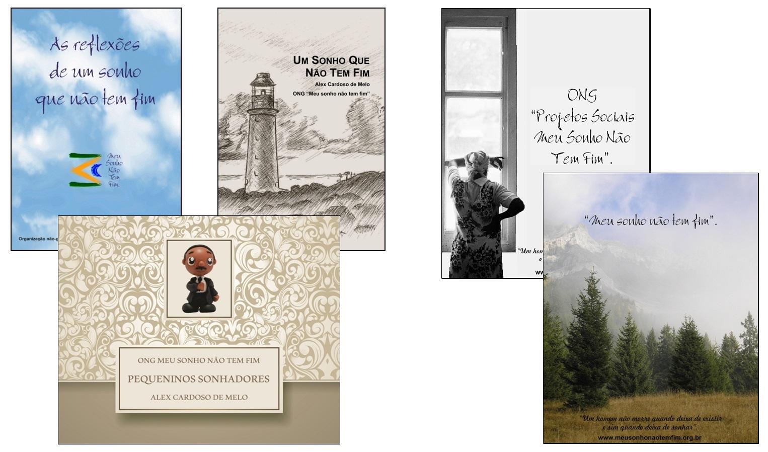 capas de livros da ONG Meu Sonho Não Tem Fim