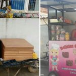 Funcionários de clínica compram trailer para vendedora que trabalhava com carrinho de mão 2