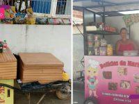 Funcionários de clínica compram trailer para vendedora que trabalhava com carrinho de mão 7