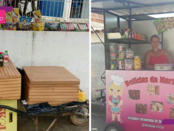 Funcionários de clínica compram trailer para vendedora que trabalhava com carrinho de mão 1