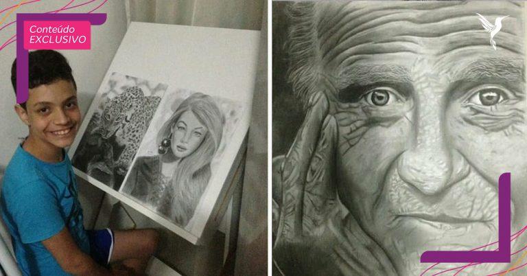"""Garoto autista faz desenhos que parecem fotografias: """"ajuda na minha ansiedade"""" 1"""