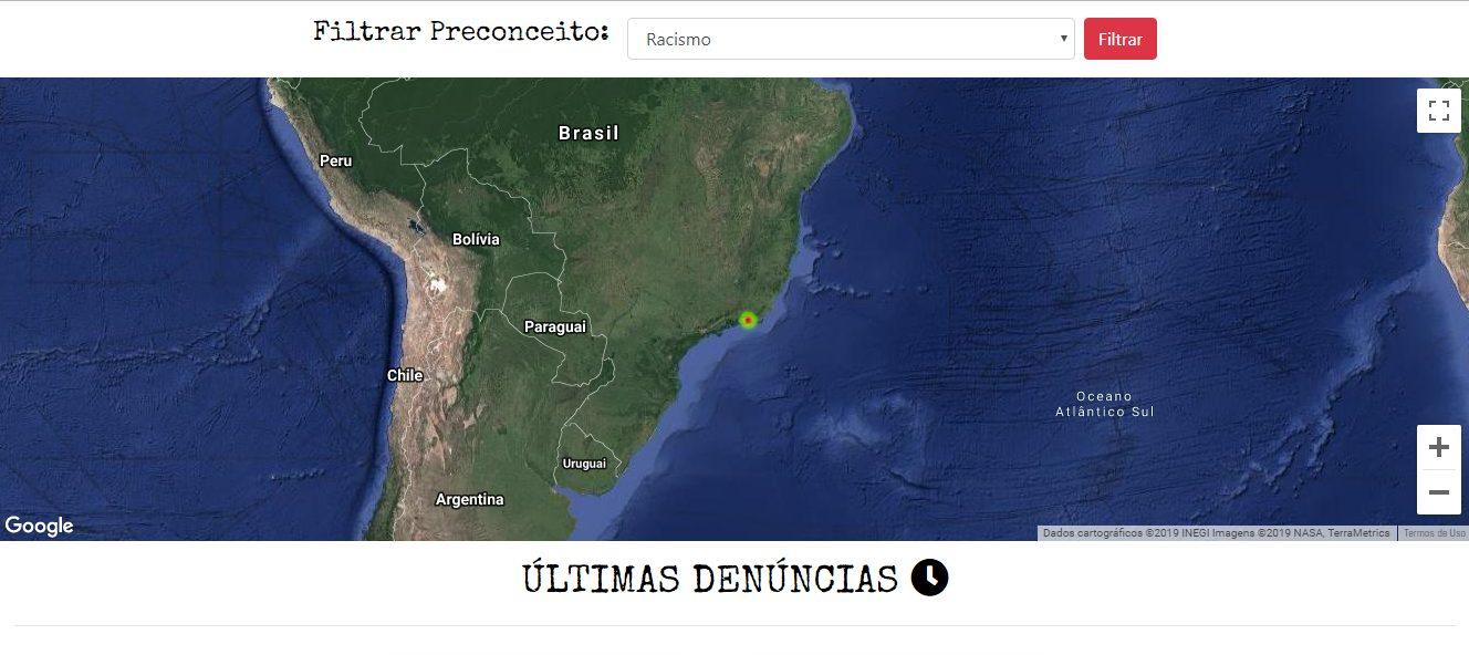 Print do site Radar do Preconceito