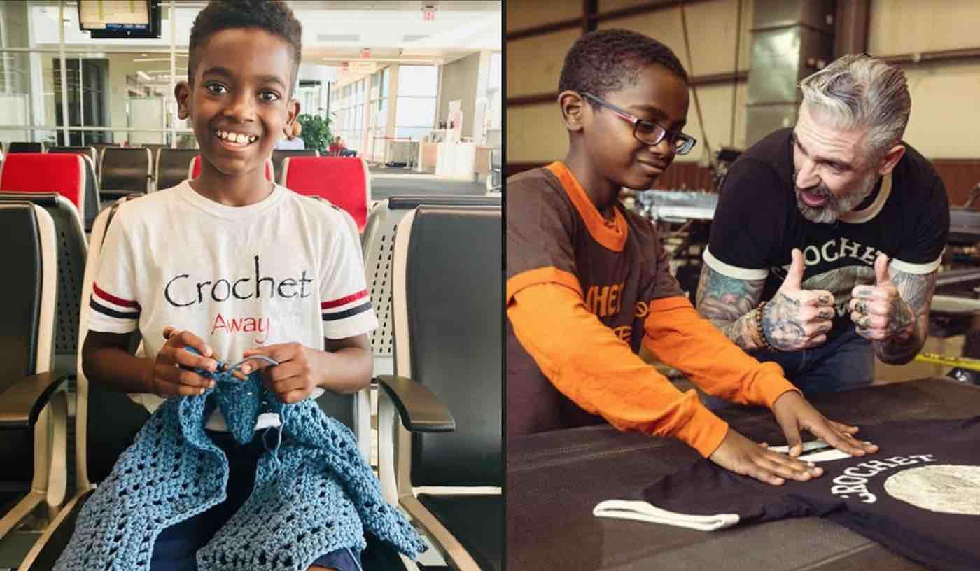Prodígio do crochê menino recursos para orfanato na Etiópia