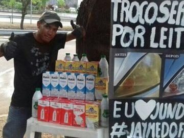 Ex-morador de rua polimento faróis troca leite ongs jundiaí