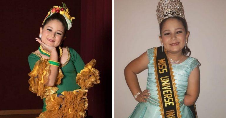 É do Brasil: única menina com deficiência vence Miss Universo Infanto Juvenil 1